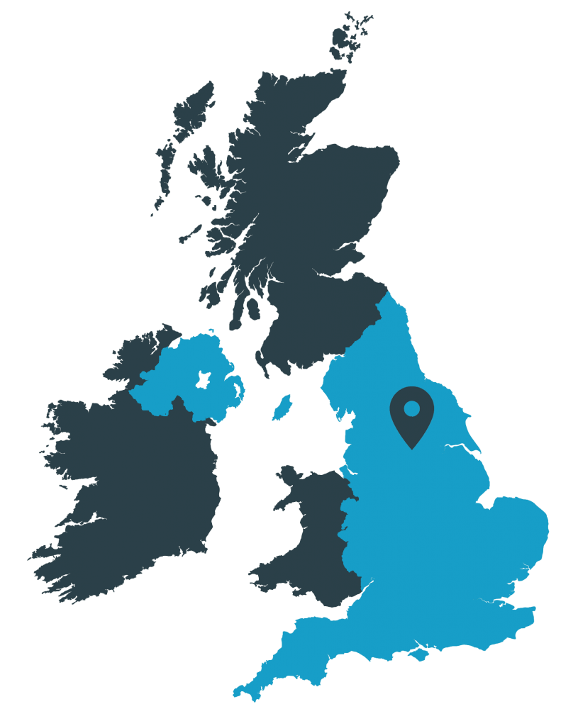 UK Map showing the location of Asphalt Grid Systems