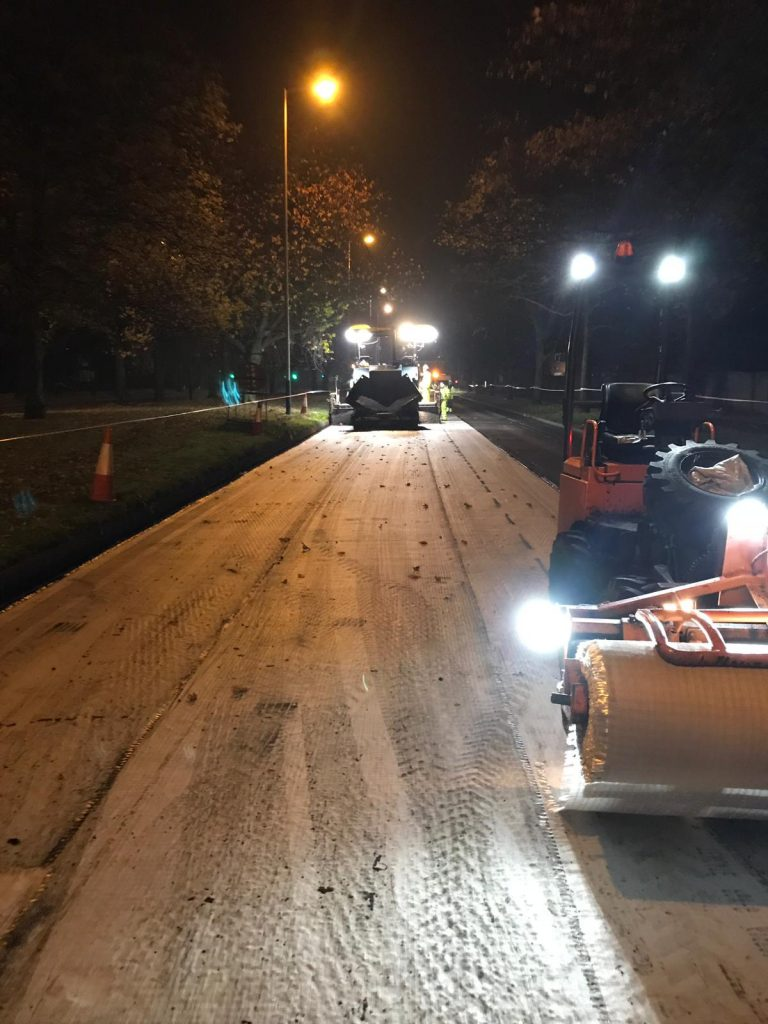 Asphalt Grid Systems installation of Asphalt Reinforcement